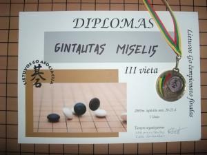 Gavau diplomą ir medalį